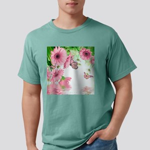 Pink Butterflies Mens Comfort Colors Shirt