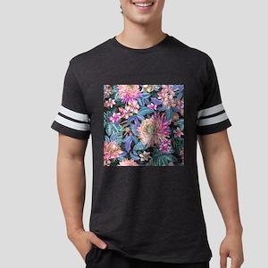 Exotic Floral Mens Football Shirt