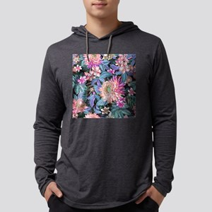 Exotic Floral Mens Hooded Shirt