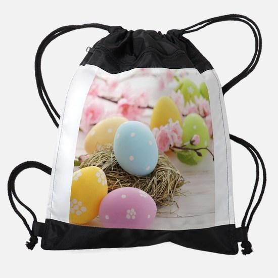 Easter Eggs Drawstring Bag