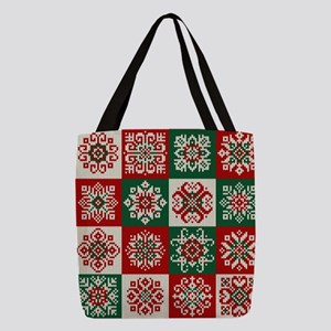 Knitted Christmas Pattern Polyester Tote Bag