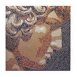 Antinous Mosaic Tile Coaster
