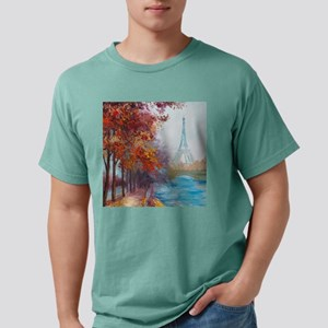 Paris Painting Mens Comfort Colors Shirt