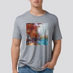 Paris Painting Mens Tri-blend T-Shirt