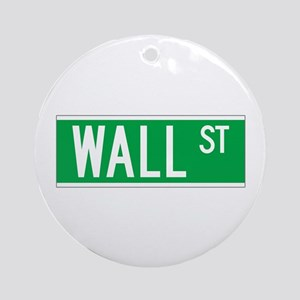Wall St., New York - USA Ornament (Round)