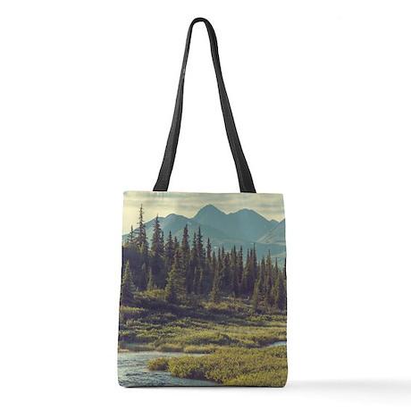 Mountain Meadow Polyester Tote Bag