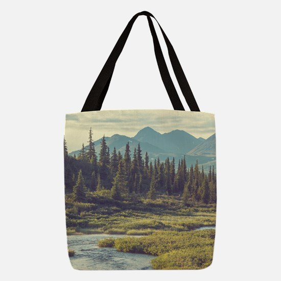 Mountain Meadow Polyester Tote Bag
