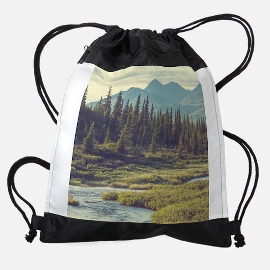 Mountain Meadow Drawstring Bag