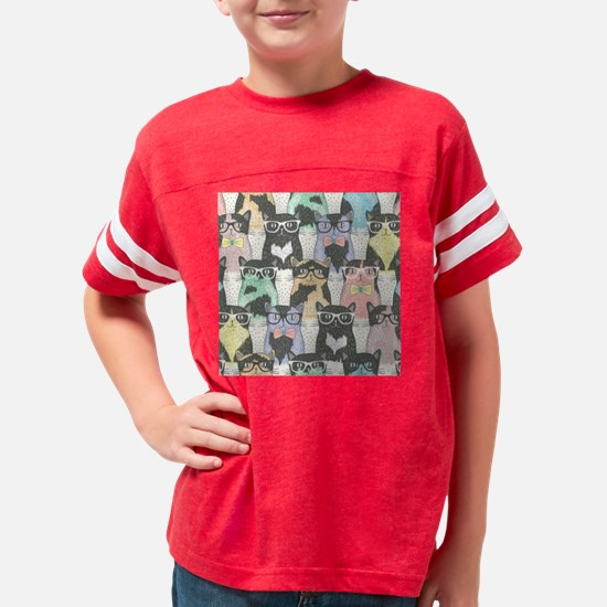Hipster Cats Youth Football Shirt