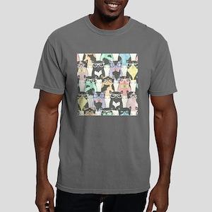 Hipster Cats Mens Comfort Colors Shirt