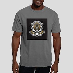 Owl Art Mens Comfort Colors Shirt