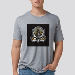 Owl Art Mens Tri-blend T-Shirt