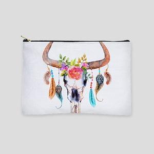 Buffalo Skull Makeup Pouch