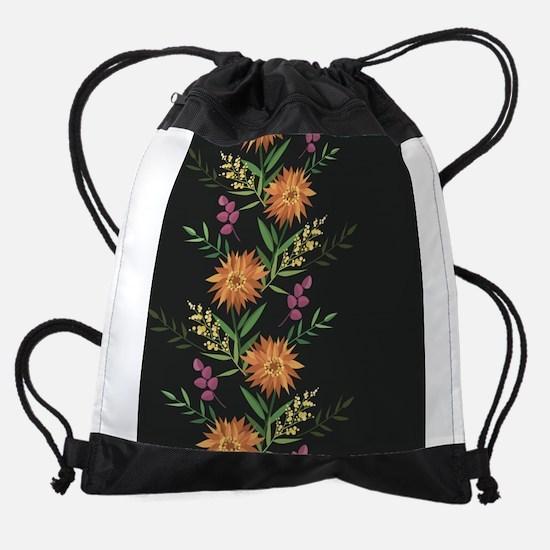 Autumn Flowers Drawstring Bag