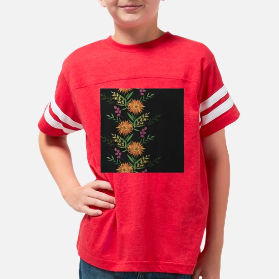Autumn Flowers Youth Football Shirt