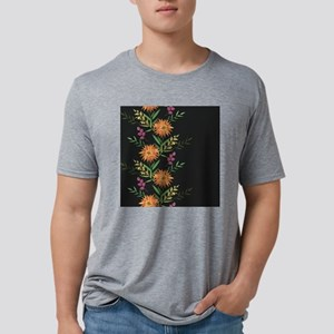 Autumn Flowers Mens Tri-blend T-Shirt