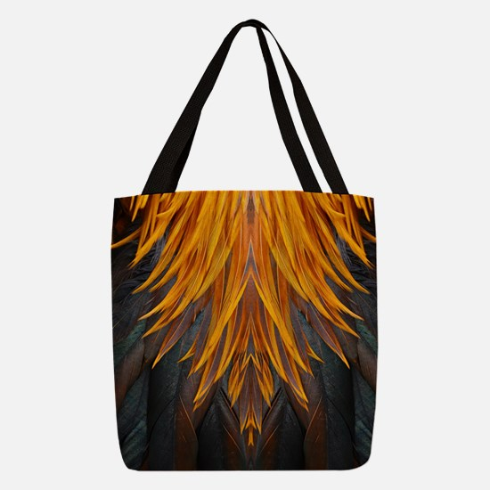 Abstract Feathers Polyester Tote Bag