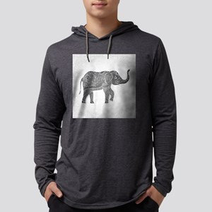 Indian Elephant Mens Hooded Shirt