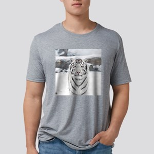 White Tiger Mens Tri-blend T-Shirt