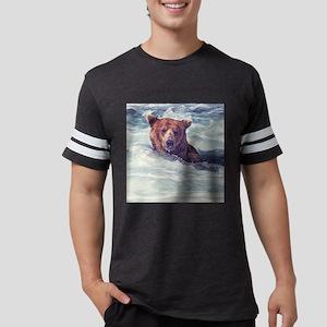 Fishing Bear Mens Football Shirt