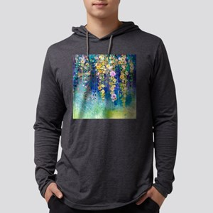 Floral Painting Mens Hooded Shirt