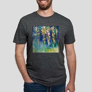 Floral Painting Mens Tri-blend T-Shirt