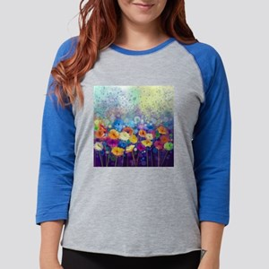 Floral Painting Womens Baseball Tee