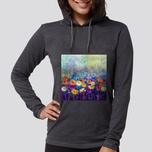 Floral Painting Womens Hooded Shirt