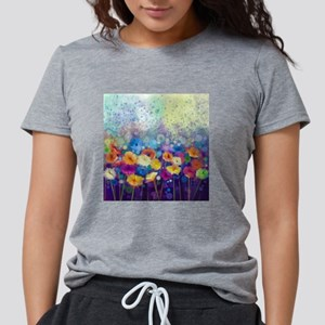 Floral Painting Womens Tri-blend T-Shirt