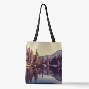 Glacier National Park Polyester Tote Bag