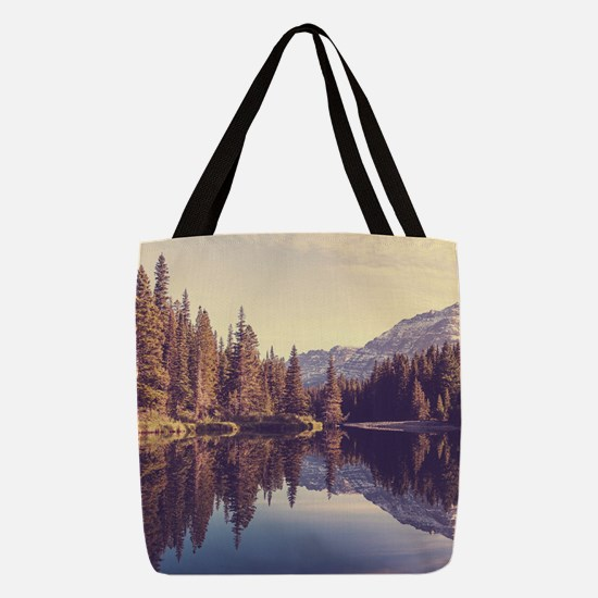 Glacier National Park Polyester Tote Bag