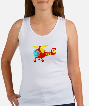 Wee Big Helicopter! Women's Tank Top