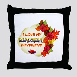 Ecuadorean Boyfriend designs Throw Pillow