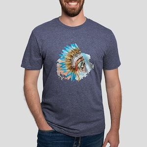 Skull Headdress Mens Tri-blend T-Shirt