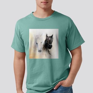 Horses Canvas Painting Mens Comfort Colors Shirt