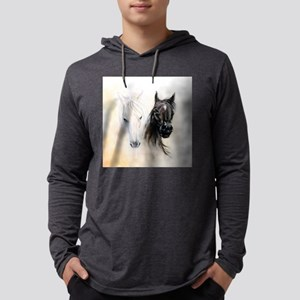 Horses Canvas Painting Mens Hooded Shirt