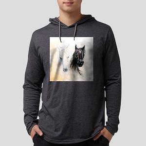 Horses Canvas Painting Mens Hooded Shirt