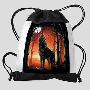 Howling Wolf Drawstring Bag