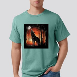 Howling Wolf Mens Comfort Colors Shirt