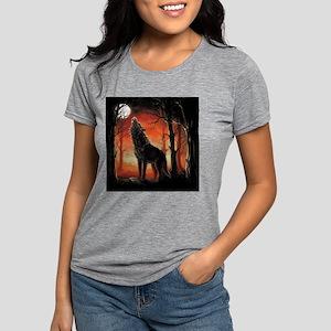 Howling Wolf Womens Tri-blend T-Shirt