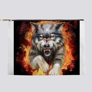 Fire Wolf Makeup Pouch