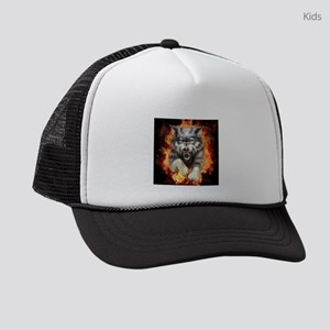 Fire Wolf Kids Trucker hat