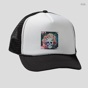 Flowers and Skull Kids Trucker hat
