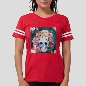 Flowers and Skull Womens Football Shirt