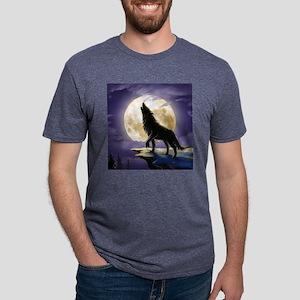 Howling Wolf Mens Tri-blend T-Shirt