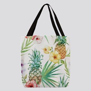 Tropical Pineapples Polyester Tote Bag