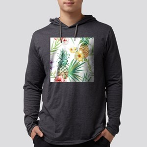 Tropical Pineapples Mens Hooded Shirt