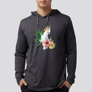 Tropical Cockatoo Mens Hooded Shirt