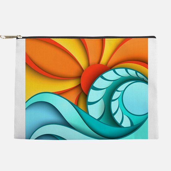 Sun and Sea Makeup Pouch