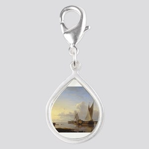 Dutch Fishing Vessels in a Calm at Sunset Silver T